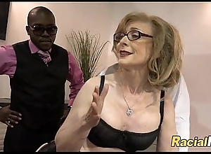 Mature Lady Gets Black Cocks After Place