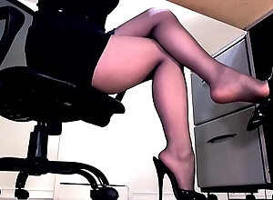 Compilation be advisable for secretary legs and masturbation