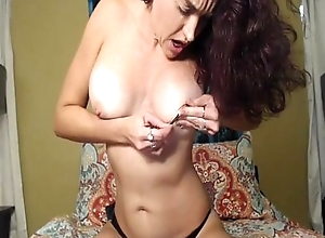 Beautiful Dour Talks Dirty exceeding Webcam - More at one's disposal Wanktime.com