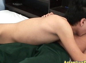 Asian twink goes fro on his buddy