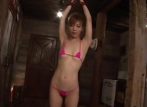 Kickshaw porn experience for obedient Japanese Saori