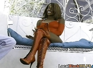 Hot Ebony Fucked Hard and Sucking Big Cock