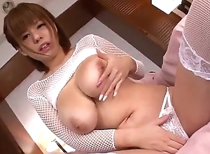 Airu Oshima staggering Japanese threesome oral play