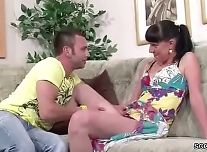 German Step-Bro Butter up Sister to her First Fuck and Facial