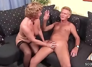 Grandma in Stockings hard fucked by Grandpa less Facial