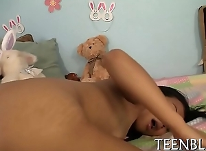Face hole creampie for cute legal age teenager