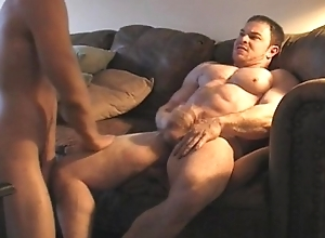 Musclegod dominates and charge from muscle twink