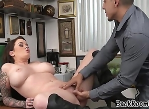 Porno Star Sucking Boss During Couch Casting Audition