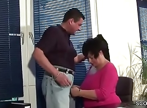 MILF Mother wit Big Tits in Skivvies fuck in Office Work