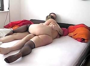 German Bigbutt Blonde Nikki fucked prevalent Unscrupulous Stockings