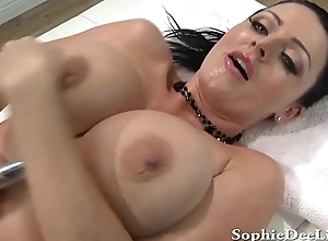 Beamy Mamma Sophie Dee Gagging together with Squirting