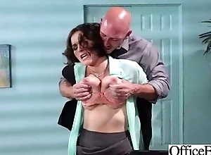 Horny Girl  With Beamy Juggs Banged In Office vid-21