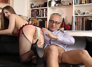 British girl is fucked by an old men 2