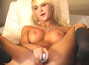 Hot Blonde Uses Dildo on Pussy on Cam at Loveforcams.com