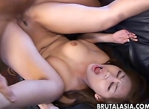 Bubble butt Asiangetting rolling in money stuck in there