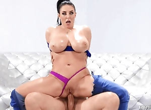 Curvy goddess analyzed by bruiser in the air various ways