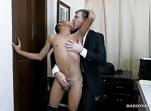 Asian Twink Barebacked By Daddy Mike