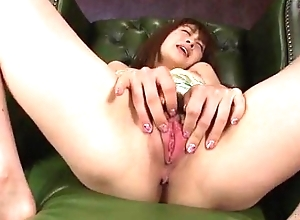 Maki Sarada wants jizz on complexion after proper cock sucking