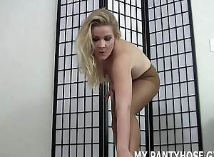 Stroke your cock while I ragging you in pantyhose JOI
